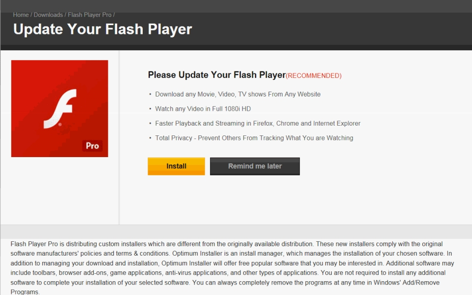 Software adobe flash player full version